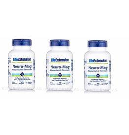 Life Extension Neuro-mag Magnesium L-Threonate, 3-pack
