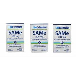 Life Extension Same (s-adenosylmethionine), 200 Mg 30 Enteric Coated Tablets, 3-pack