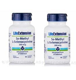 Life Extension Se-methyl L-selenocysteine, 200 Mcg, 2-pack