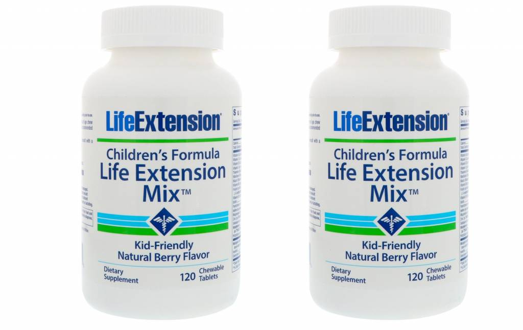 Greenleaves vitamins Children's Formula Life Extension Mix, 120 Chewable Tablets, 2-pack