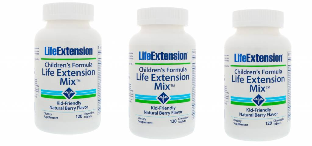 Life Extension Children's Formula Life Extension Mix, 120 Chewable Tablets, 3-pack