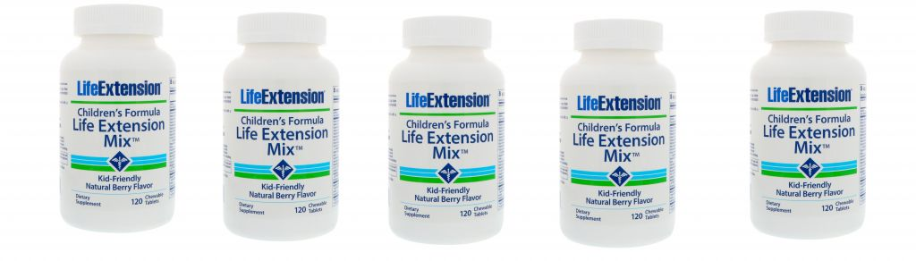 Life Extension Children's Formula Life Extension Mix, 120 Chewable Tablets, 5-pack