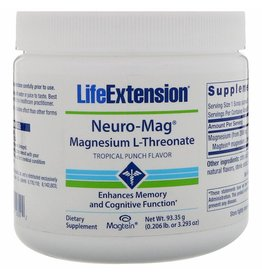 Life Extension Neuro-Mag Magnesium L-threonate, Tropical Flavor Drink Mix