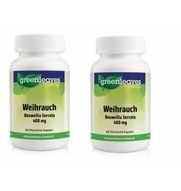 Greenleaves vitamins Weihrauch - Boswellia Serrata 350 Mg, 2-pack