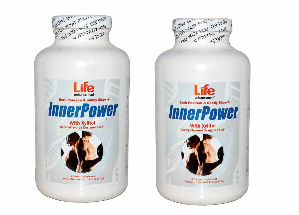 Life Enhancement Innerpower With Xylitol Drink Mix, Cherry Flavored, 2-pack