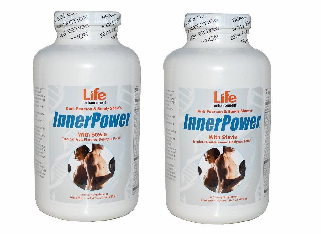 Life Enhancement Innerpower With Stevia Drink Mix, Tropical Fruit-flavored, 2-pack