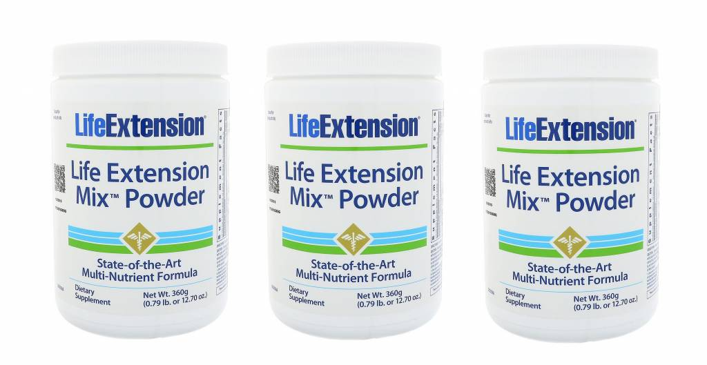 Life Extension Life Extension Mix Powder, 3-pack
