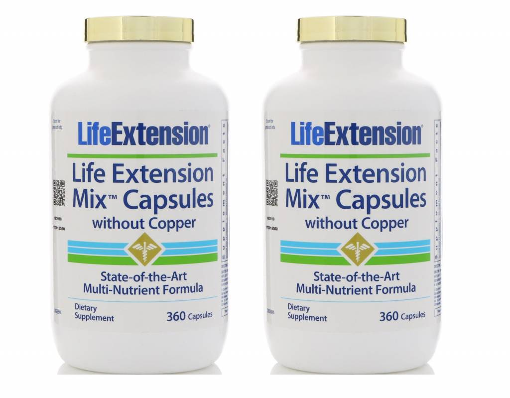 Life Extension Life Extension Mix Capsules Without Copper, 2-pack