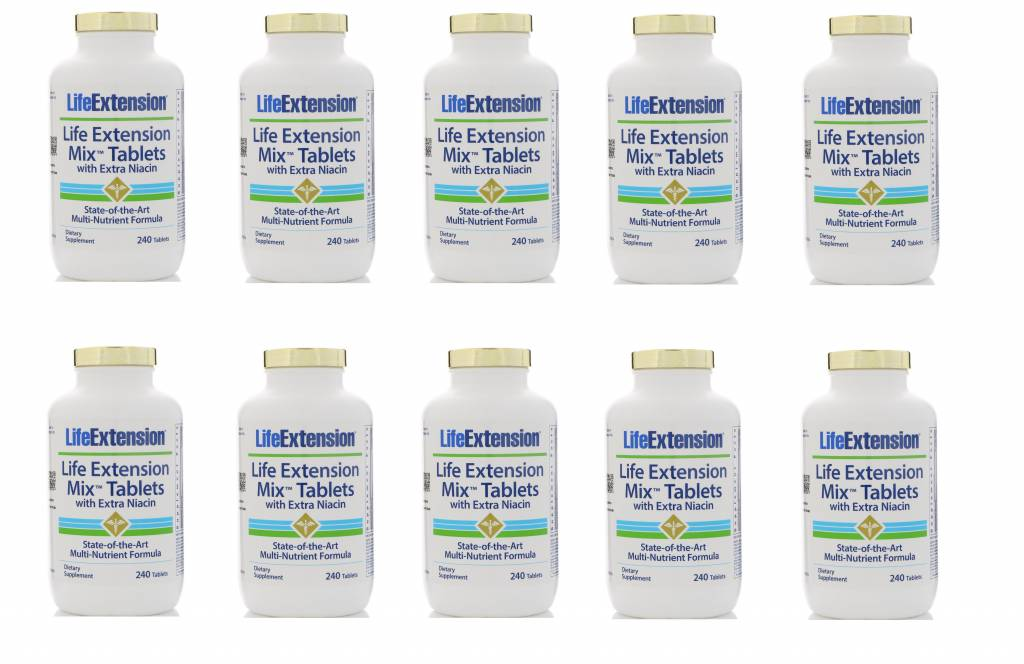 Life Extension Life Extension Mix Tablets With Extra Niacin, 240 Tablets, 10-pack