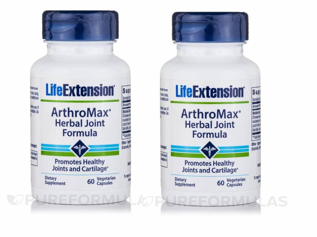 Life Extension Arthromax Herbal Joint Formula, 60 Vegetarian Capsules, 2-pack
