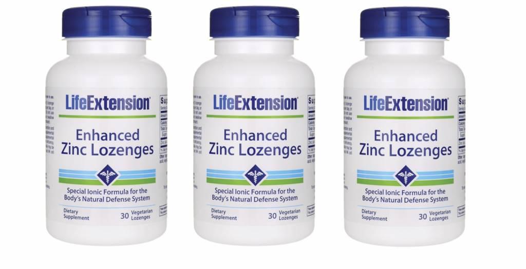 Life Extension Enhanced Zinc Lozenges, 30 Vegetarian Lozenges, 3-pack