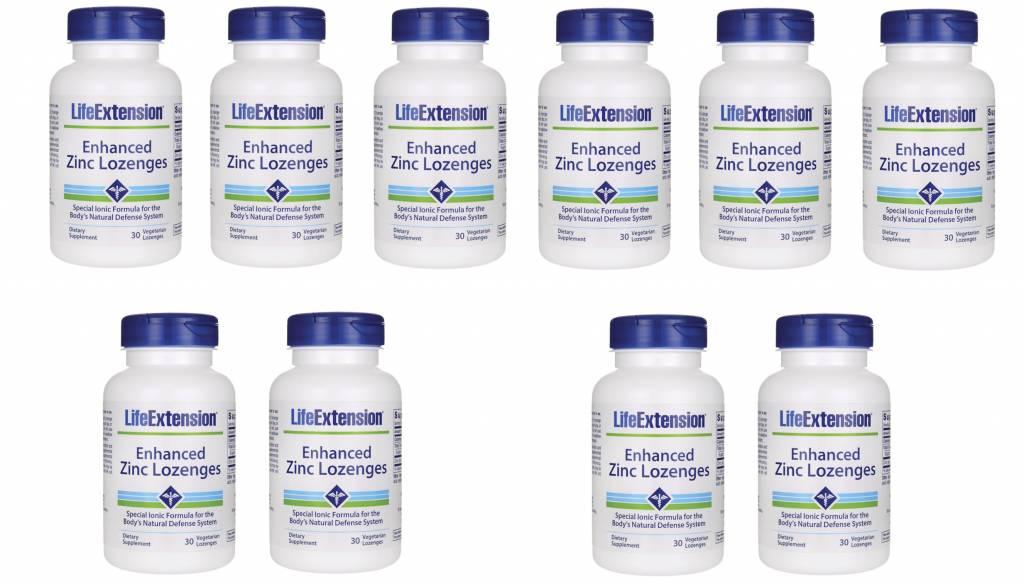 Life Extension Enhanced Zinc Lozenges, 30 Vegetarian Lozenges, 10-pack
