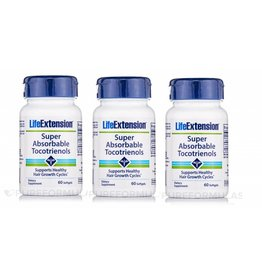 Life Extension Super-absorbable Tocotrienols, 60 Softgels, 3-pack
