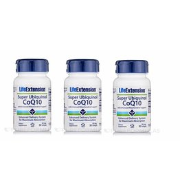 Life Extension Super Ubiquinol CoQ10 With Enhanced Mitochondrial Support, 50 Mg, 30 Softgels, 3-pack