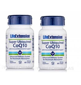Life Extension Super Ubiquinol Coq10 With Enhanced Mitochondrial Support, 100 Mg, 60 Softgels, 2-pack