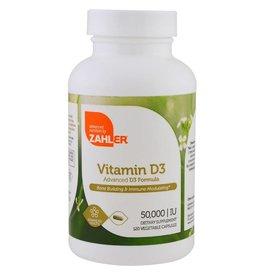 ZAHLER Vitamin D3, 50,000 IU, 120 Vegetable Capsules