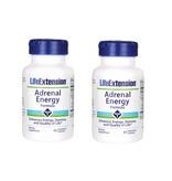 Life Extension Adrenal Energy Formula, 60 Vegetarian Capsules, 2-pack