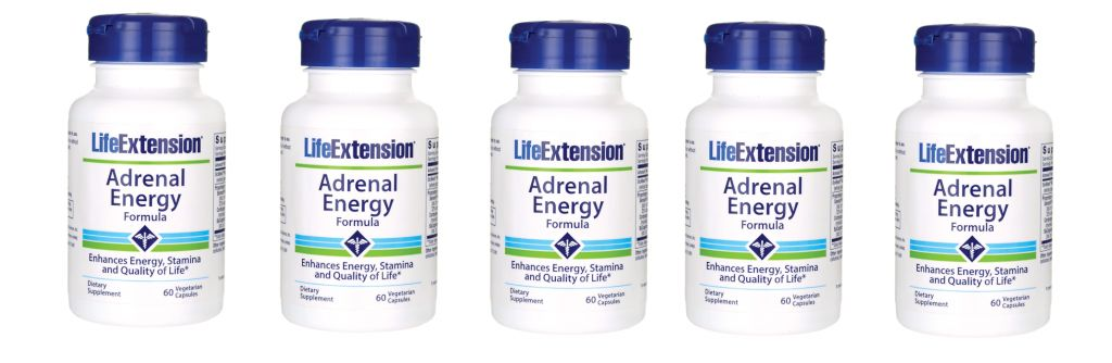 Life Extension Adrenal Energy Formula, 60 Vegetarian Capsules, 5-pack