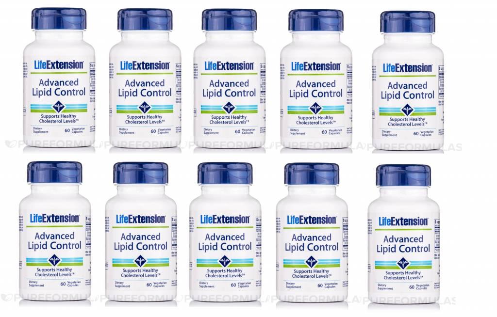 Life Enhancement Advanced Lipid Control, 60 Vegetarian Capsules, 10-pack