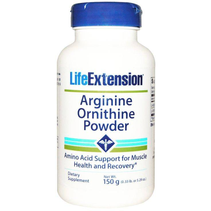 Life Extension Arginine Ornithine Powder, 150 Grams, 10-pack