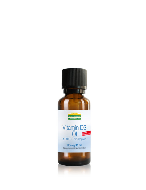 Heidelberger Chlorella Vitamin D3 Öl, 1000I.E., 30ml