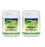 Greenleaves vitamins MSM Pulver (Opti-MSM), 2-pack