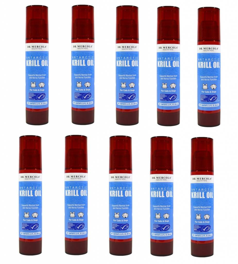 Dr. Mercola Dr. Mercola, Antarctic Krill Oil, For Cats & Dogs, 2,0 Fl Oz (59ml), 10-pack
