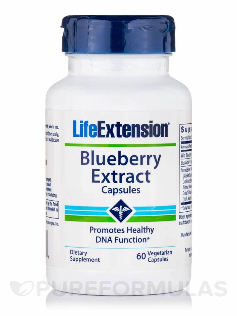 Life Extension Blueberry Extract Capsules