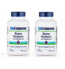 Life Extension Bone Restore With Vitamin K2, 120 Capsules, 2-pack