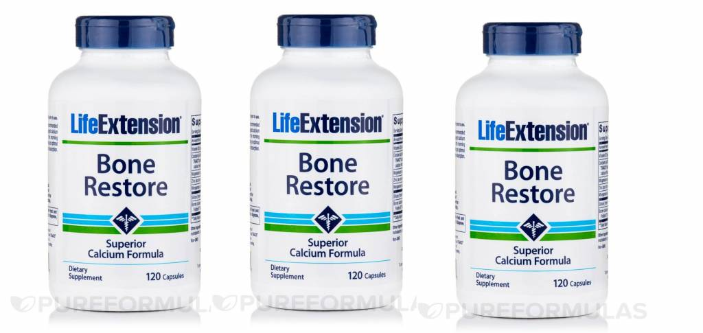 Life Extension Bone Restore, 120 Capsules, 3-packs