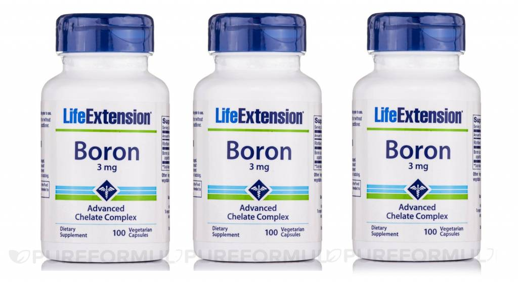Life Extension Boron, 3 Mg 100 Vegetarian Capsules, 3-pack