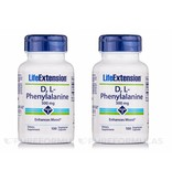 Life Extension D,L-Phenylalanine Capsules, 500 Mg 100 Vegetarian Capsules, 2-pack
