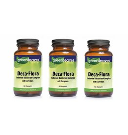 Greenleaves vitamins Deca-flora, 60 Capsules, 3-pack