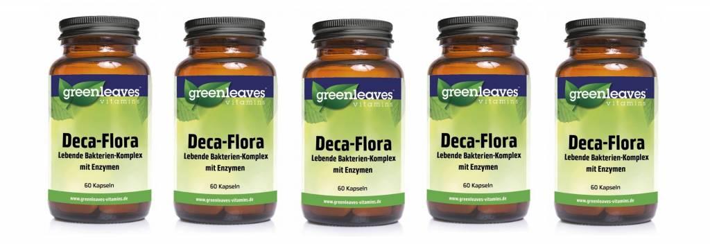 Greenleaves vitamins Deca-flora, 60 Capsules, 5-pack
