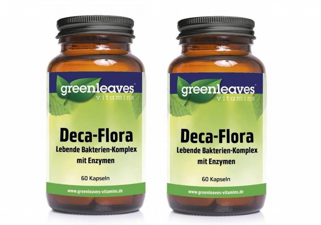 Greenleaves vitamins  Deca-flora 2-pack, 60 Capsules