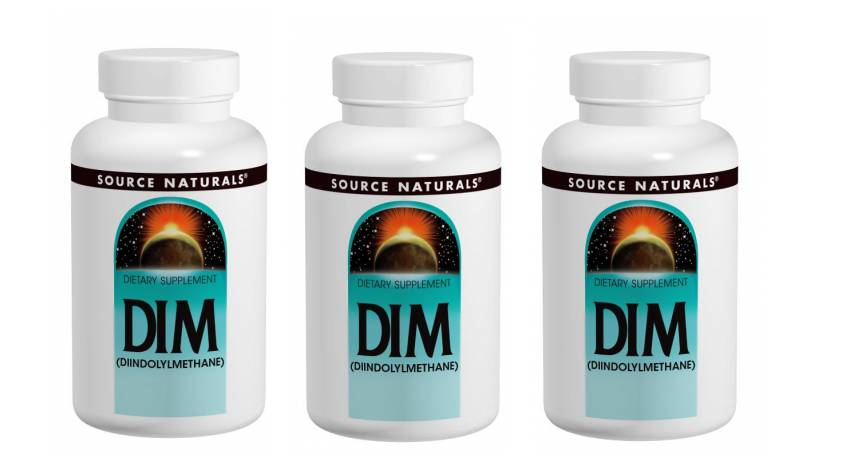 Source Naturals DIM, 100 Mg 60 Tablets, 3-pack