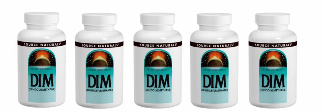 Source Naturals DIM, 100 Mg 60 Tablets, 5-pack