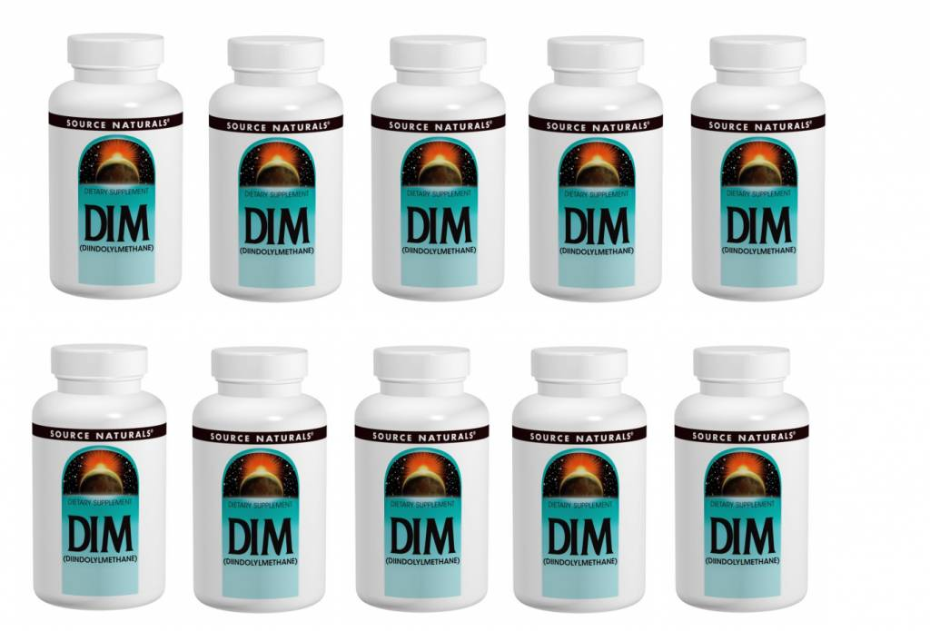 Source Naturals DIM, 100 Mg 60 Tablets, 10-pack