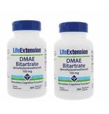 Life Extension DMAE Bitartrate (dimethylaminoethanol), 150 Mg 200 Vegetarian Capsules, 2-pack