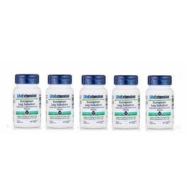Life Extension European Leg Solution Featuring Certified Diosmin 95, 600 Mg, 30 Vegetarian Tablets, 5-pack