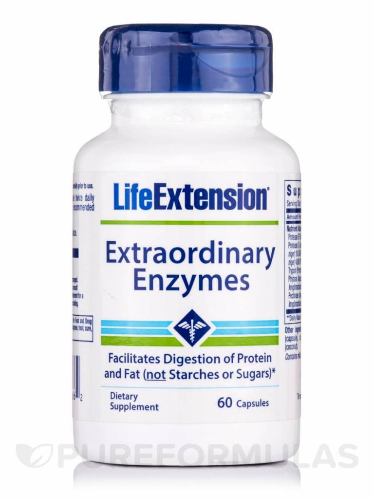 Life Extension  Extraordinary Enzymes | 60 capsules