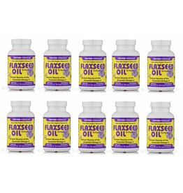 Jarrow Formulas Flaxseed Oil, 1000 Mg 100 Softgels, 10-pack