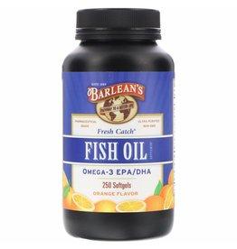 Barlean's Fresh Catch, Fish Oil Supplement, Omega-3 EPA/DHA, Orange Flavor, 250 Softgels, 3-pack