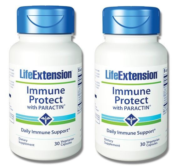 Life Extension Immune Protect With Paractin, 30 Vegetarian Capsules, 2-pack