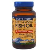 Wiley's Finest Wild Alaskan Fish Oil, Cholesterol Support, 90 Softgels