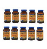 Wiley's Finest Wild Alaskan Fish Oil, Cholesterol Support, 90 Softgels, 10-pack