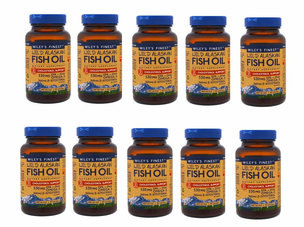 LDS Wild Alaskan Fish Oil, Cholesterol Support, 90 Softgels, 10-pack