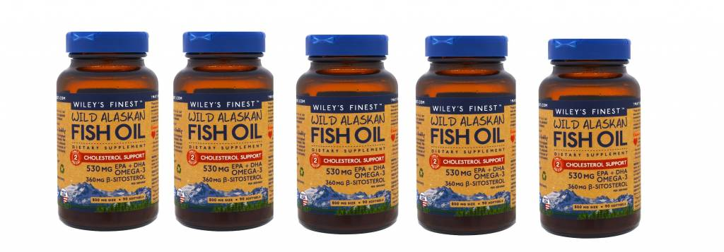 LDS Wild Alaskan Fish Oil, Cholesterol Support, 90 Softgels, 5-pack
