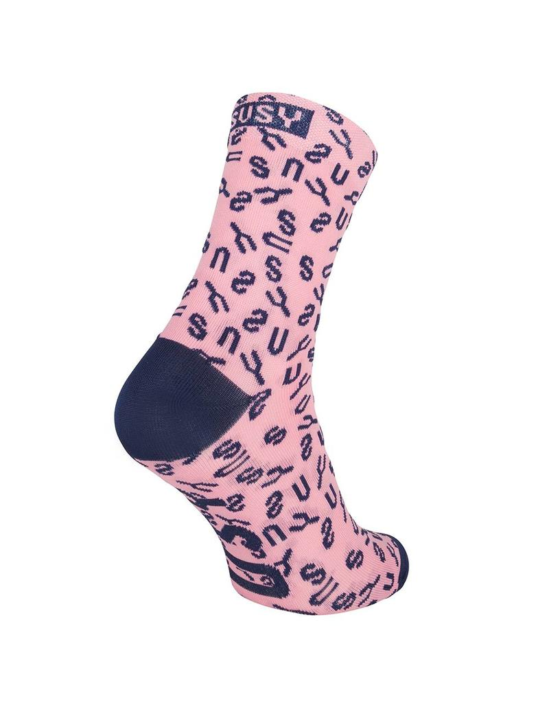 Women's cycling sock pink regular