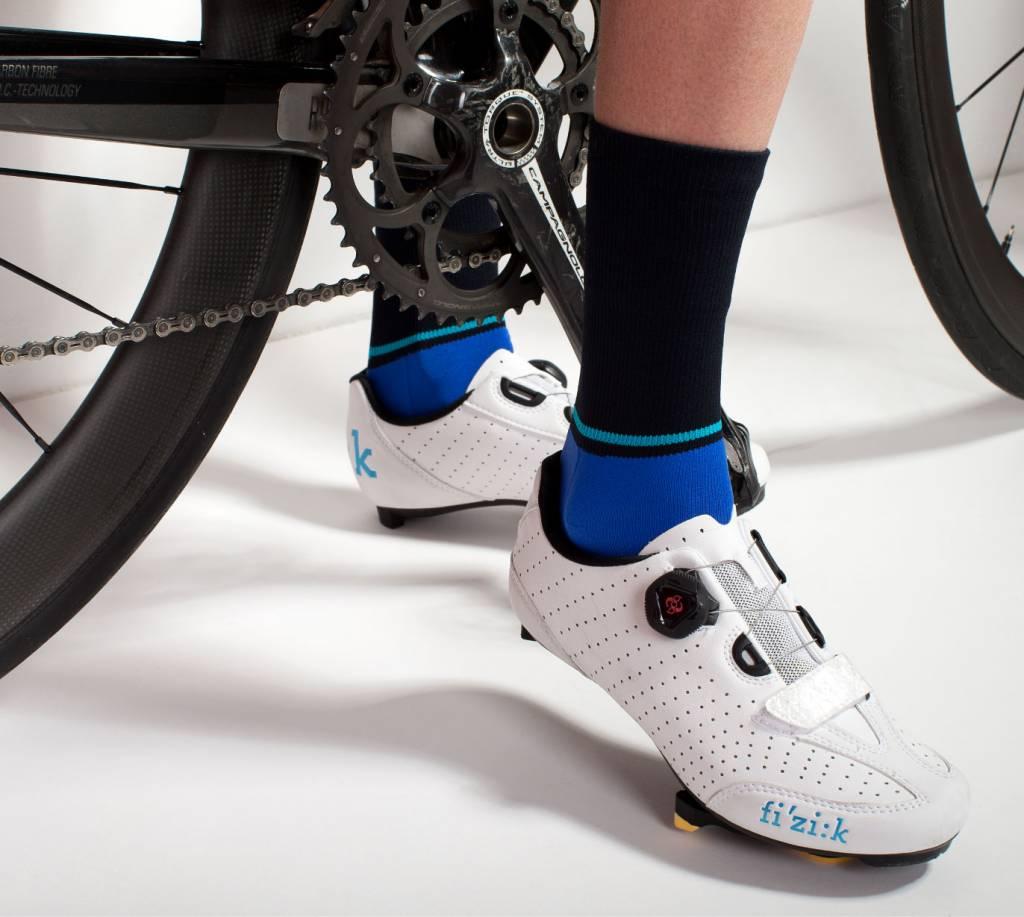 Susy Cyclewear Dames fietssokken blauw (hoog)
